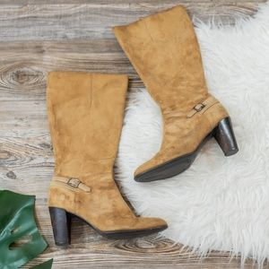 Light brown suede boots